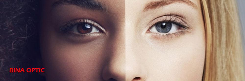 بهترین برند لنز طبی ؛لنز رنگی 2 چشم