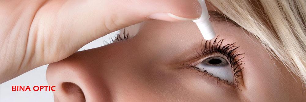 قطره چشم - لنز طبی